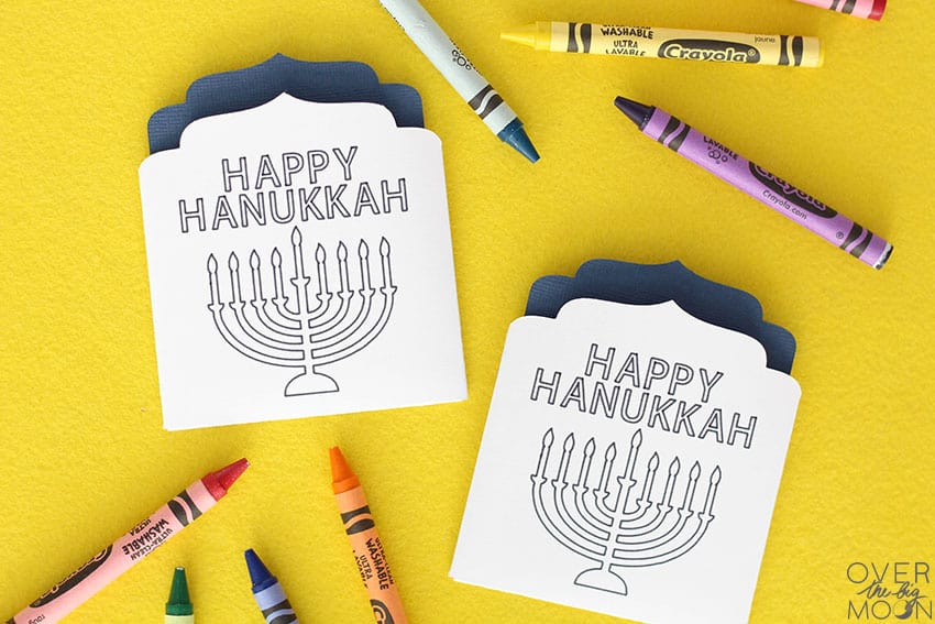 DIY Crayon Holder for Hanukkah! From overthebigmoon.com!