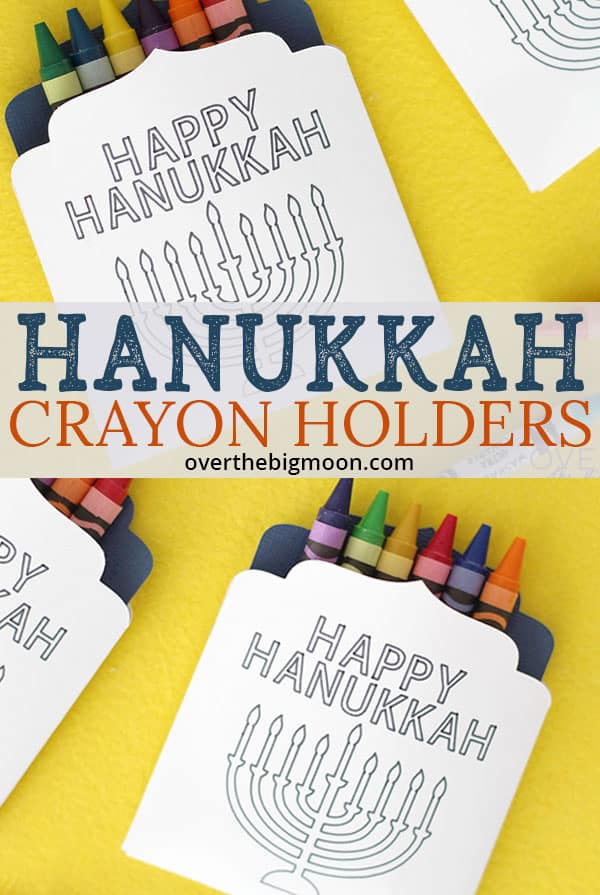 Hanukkah Crayon Holders - easily made on my Cricut Maker and perfect for our Hanukkah Dinner Table! From overthebigmoon.com!