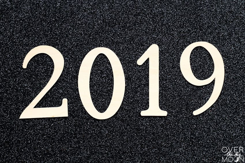 2019 Numbers cutout of Basswood!