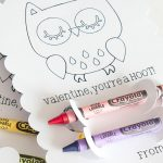 Kids Crayon Holder made with the Cricut - perfect for Valentine's! From overthebigmoon.com!