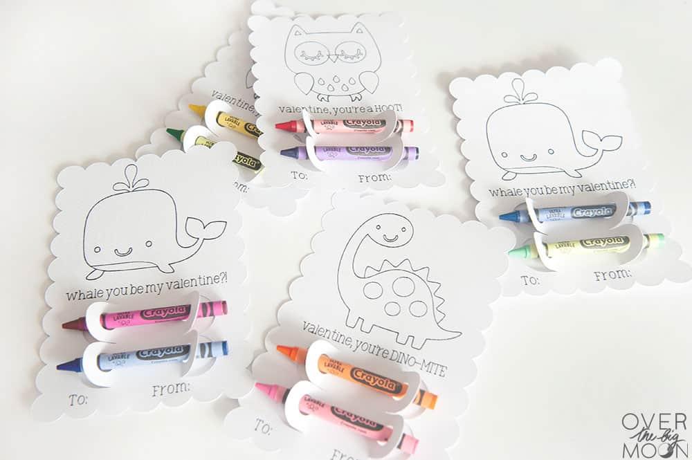 Easy DIY Valentine Crayon Holders! From overthebigmoon.com!