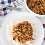 Easy Shredded French Chicken Recipe - make as a freezer meal and cook in the crockpot! From overthebigmoon.com!