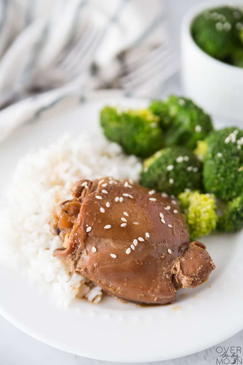 Teriyaki Chicken Dinner Recipe - this is a fool proof meal that the entire family will love! From overthebigmoon.com!