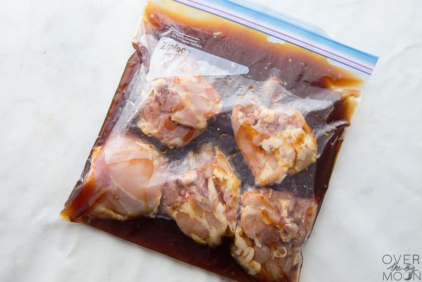 Teriyaki Chicken Freezer Meal in a ziplock bag, ready to freeze! From overthebigmoon.com!