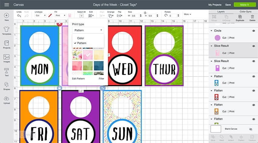 Adding Patterned Papers to a Cricut Design Space file!