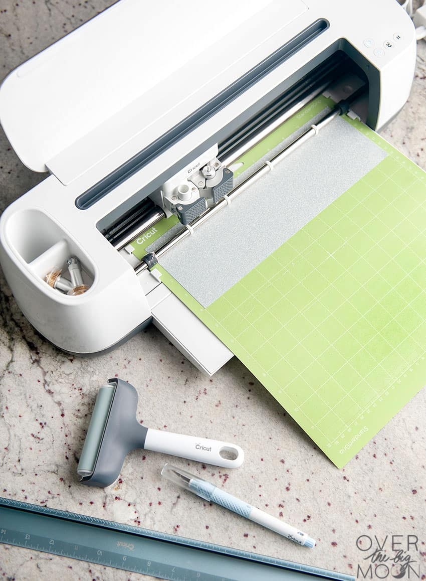 Loading a mat with Iron On into your Cricut machine! From overthebigmoon.com!