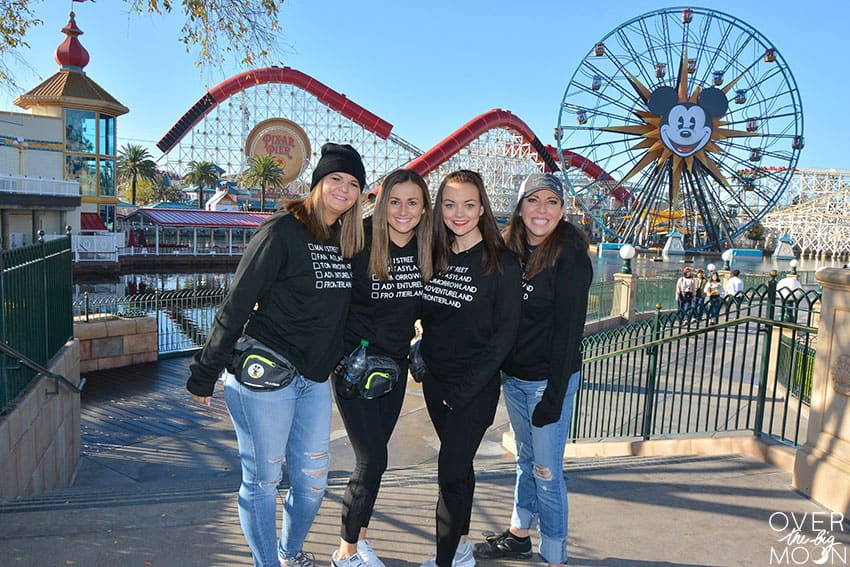 Hoodies for Disneyland that have all the different lands from Disneyland!