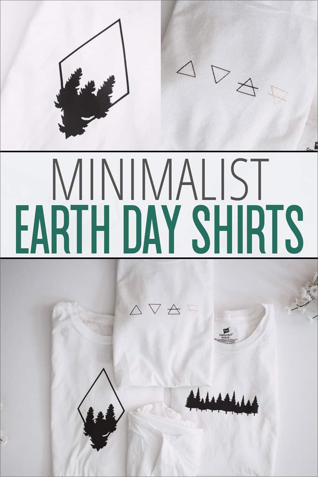 These minimalist Earth Day Tee Shirts are perfect for any volunteer group or nature lover whether you're celebrating Earth Day or just want a new hiking tee!