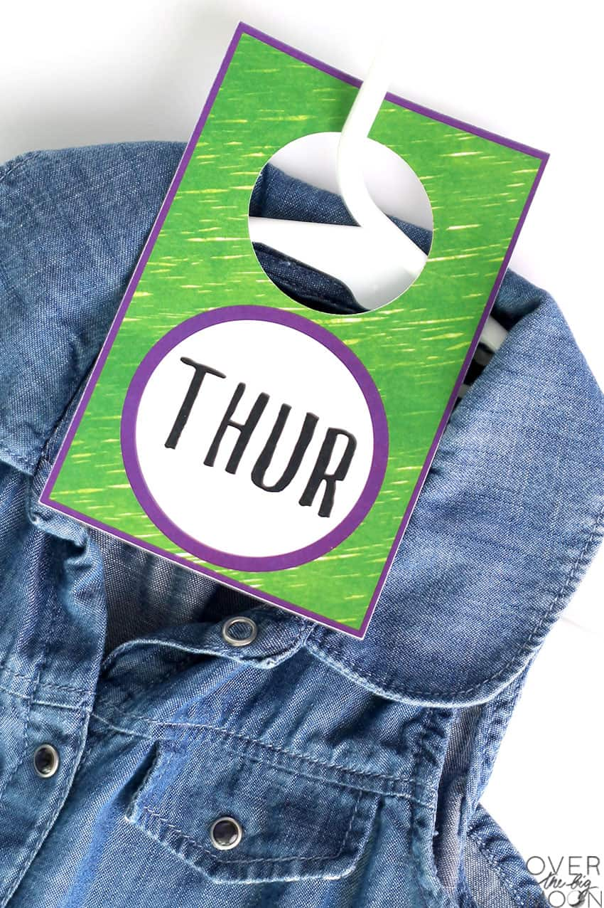 Print Then Cut Hanging Tag for clothes organization!