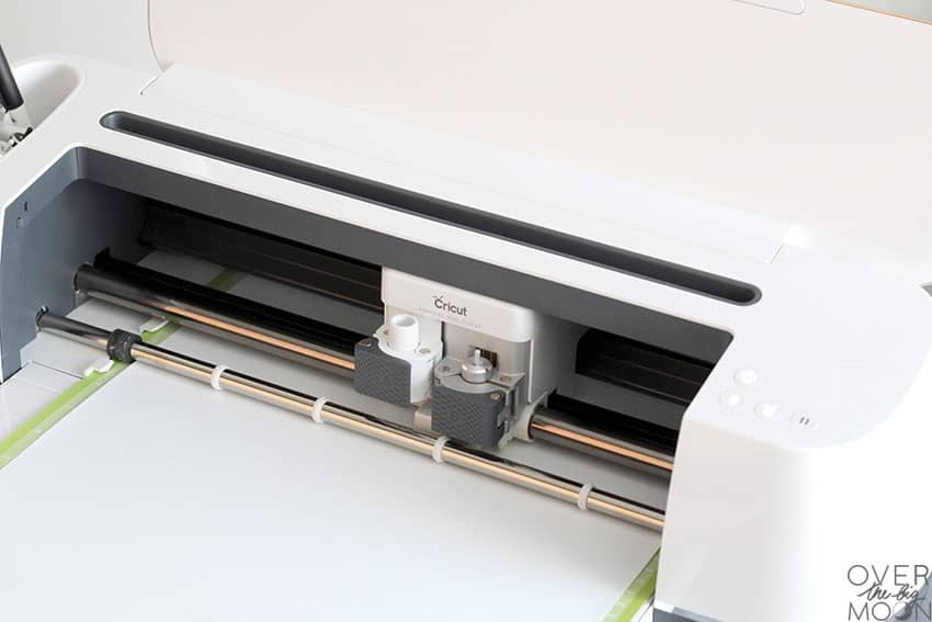 Cricut Maker cutting Iron On.