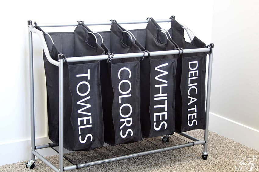 Labeled Laundry Sorter made with Iron On Labels!