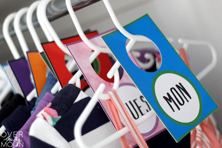 Hanging Days of the Week Clothes Tag for Kids! Made with the Print Then Cut Feature for your Cricut machine!