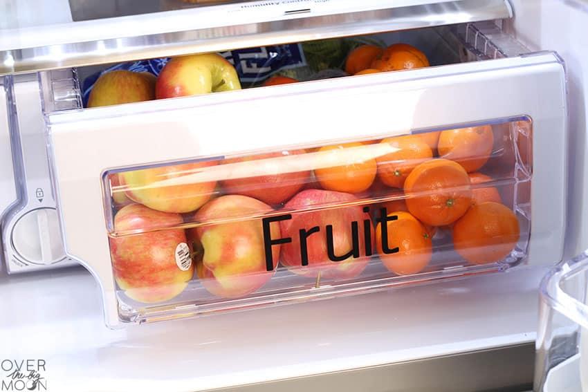 Fruit drawer label!