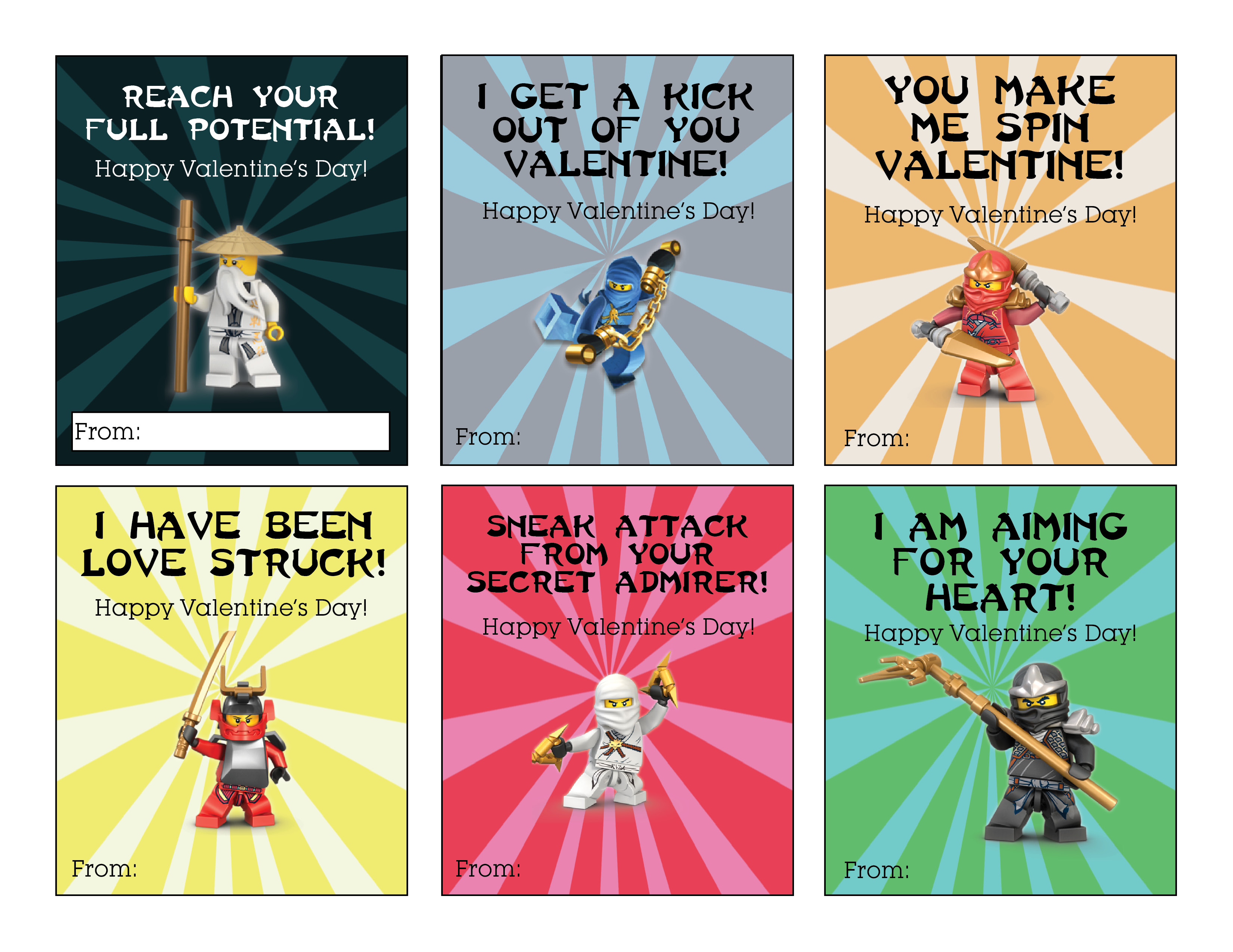 ninjago valentine u0027s free printable