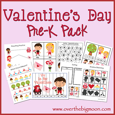 VDayButton Valentines Day Pre K Pack