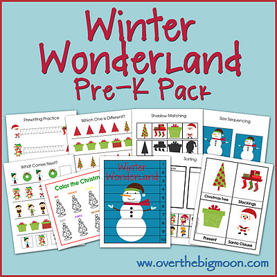 Over The Big Moon Winter Wonderland Pre-K Pack - Over The Big Moon