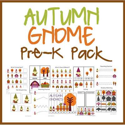 AutumnGnomeButton Autumn Gnome Pre K Pack