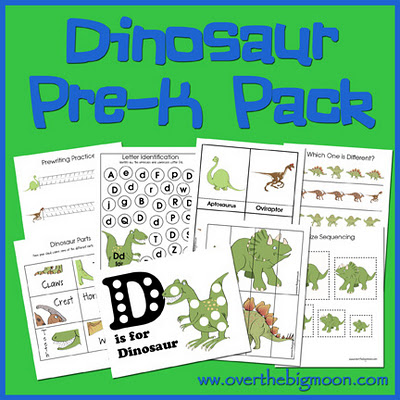 DinoButtonWeb Dinosaur Pre K Pack