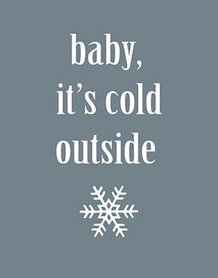 cold%2Boutside%2B11x14 Winter Mantle + Free Printable