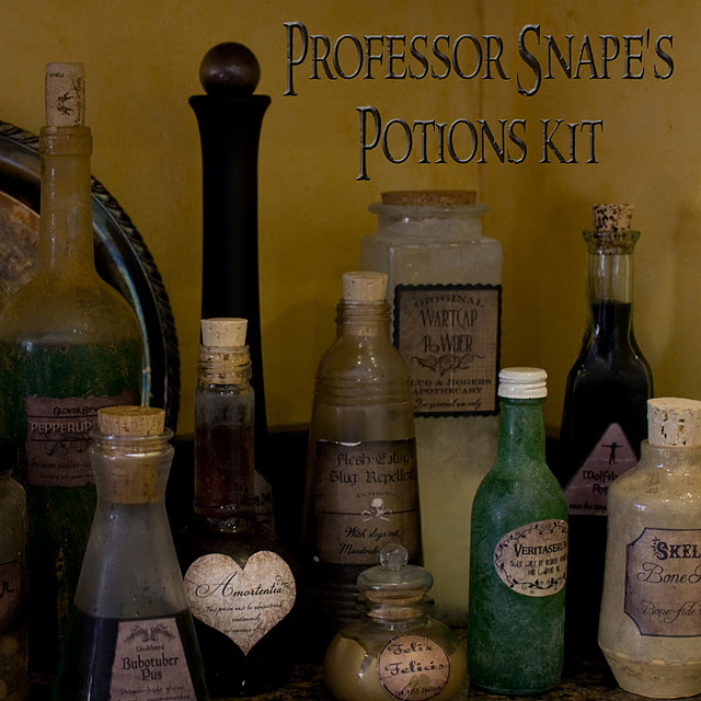 Untitled 1 Halloween Decor: Harry Potter Potion Bottles